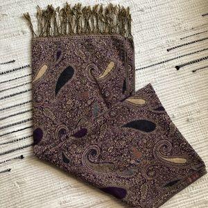 Vintage purple paisley scarf